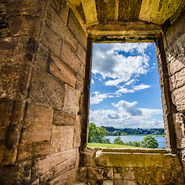 Looking at Linlithgow by Caitlin Lisa - Buildings & Architecture Other Interior ( abstract, scotland, window, castle, linlithgow palace )