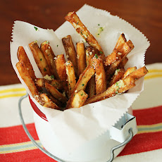 Oven Roasted Fries with Garlic Butter & Parmesan