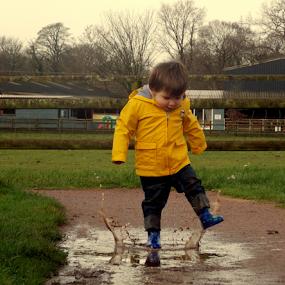 the splash by Matt Ball - Babies & Children Children Candids ( water, muddy, splash, children, fun,  )
