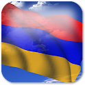 3D Armenia Flag + icon