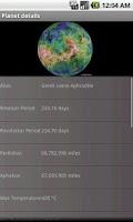 Screenshot of Solar System:Planets