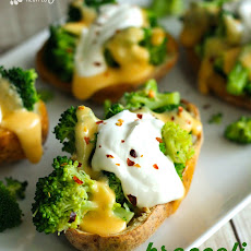 Broccoli Cheese Stuffed Potato Skins