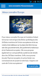 Fondation Robert Schuman - screenshot