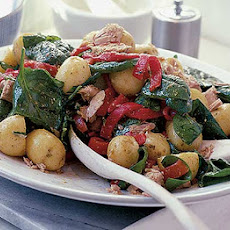 New Potato, Tuna & Spinach Salad