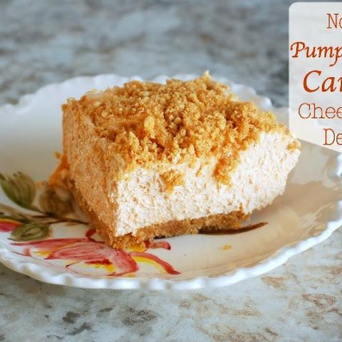No Bake Pumpkin Spice Caramel Cheesecake Dessert
