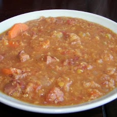 Lentil Soup With Ham and Bacon (Crock Pot, Slow Cooker)