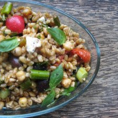 Farro with Kalamata Olives Recipe