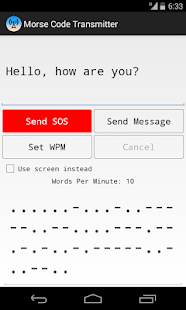 Morse Code Transmitter - screenshot