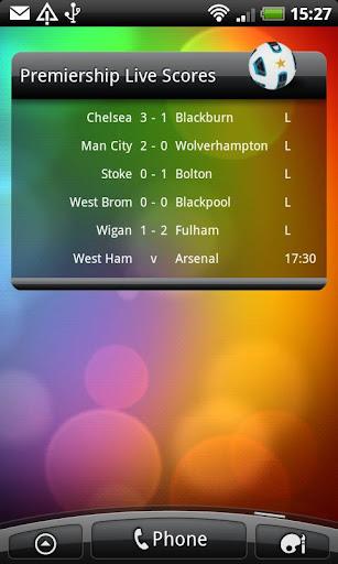 Premiership Live Scores