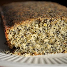 Lemon Glazed Poppy Seed Coffee Cake