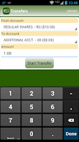 Screenshot of LEOCU Mobile Teller