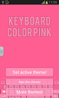 Screenshot of Keyboard Color Pink