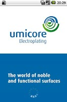 Screenshot of Umicore Electroplating