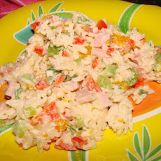 Mandarin Pepper Rice Salad