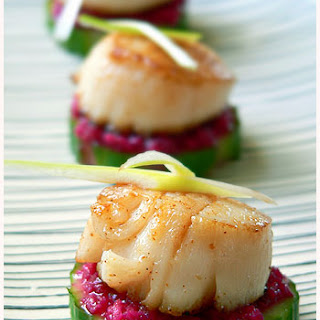 Scallop Horseradish Finger Food