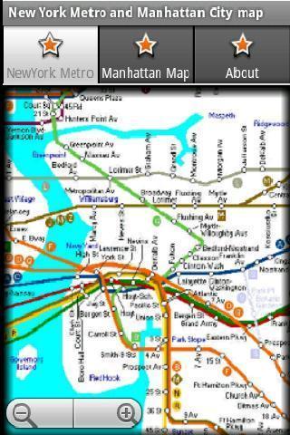 纽约地铁运行图 纽约地图