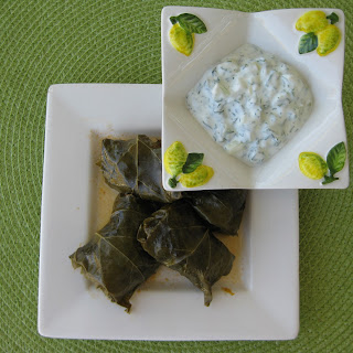 Lamb Dolmas With Tzatziki