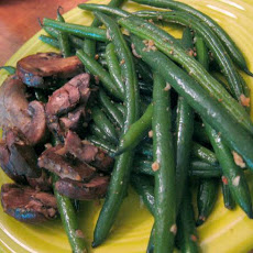 Lemon Beans and Mushrooms
