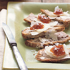 Walnut Toasts with Fig Jam and Manchego Cheese