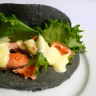 Salmon Tacos with Homemade Yuzu Mayonnaise