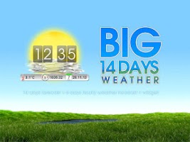 Screenshot of BIG 14-days Weather & Clock