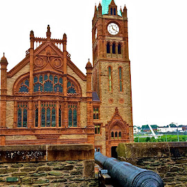 Guild Hall from the Old Wall by Tyrell Heaton - Instagram & Mobile iPhone ( canon, ireland, guildhall, derry, iphone, wall )