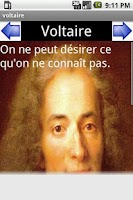 Screenshot of citations de Voltaire