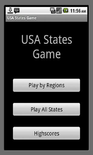 US States Name Game