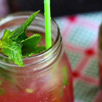 Fresh Cherry Mojitos