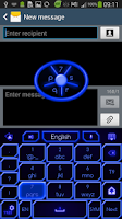 Screenshot of GO Keyboard Blue Neon Theme