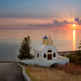 Greece by Alecu Gabriel - Landscapes Travel ( greece, sunrise, travel, santorini )