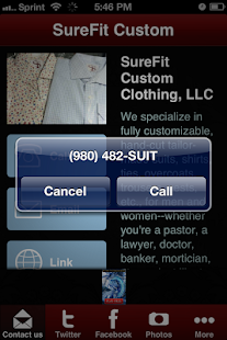 SureFit Custom Clothing - screenshot