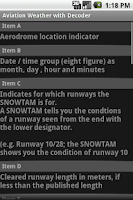Screenshot of Snowtam Decoder