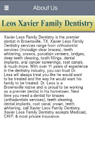 Xavier Leos Family Dentistry - screenshot