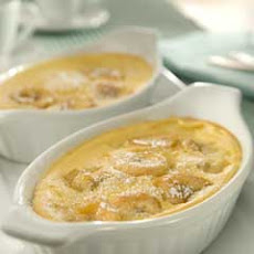 Puffed Caramelized Banana Custard