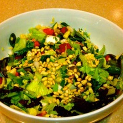 Summer Chopped Salad with Creole Mustard Dressing