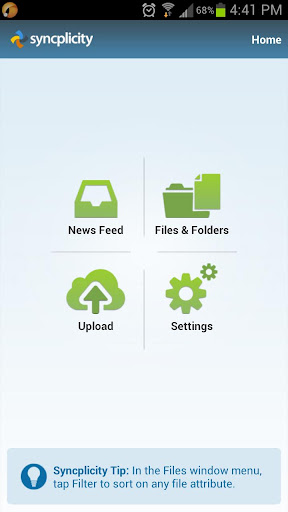 syncplicity for android screenshot