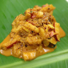 Apple Sabzi (Apple Cooked in Mild Spices With Coconut)