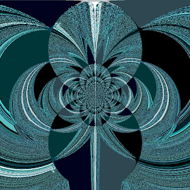 Aqua Marine by Yvonne Collins - Digital Art Abstract ( edited, abstract, digital art, aqua marine, photography )