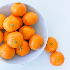 Oranges by Rita Colantonio - Food & Drink Fruits & Vegetables ( white bowl, food & beverage, oranges, eat & drink, assymetrical, meal )