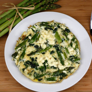 Asparagus, Spinach, and Feta Cheese Frittata