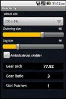 Screenshot of GearInchy