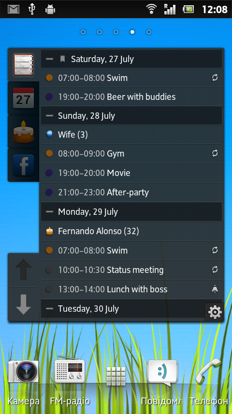 All-in-One Agenda widget Screenshot 5