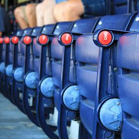 by Jeremy Putnam - Sports & Fitness Baseball ( public, bench, furniture, object )