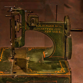 Antique Singer by Izzy Kapetanovic - Artistic Objects Antiques ( old, sewing machine, antique )