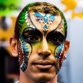 ButterflyMan by Ahmed Gamaleldin - People Body Art/Tattoos ( body art, candid, tattoo, portrait, street photography, person, people )