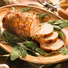 Garlic-Studded Pork Loin Roast