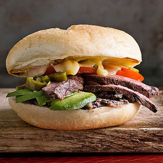 Steak Tortas with Spicy Black Bean Spread