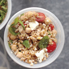 Farro, Chickpea, Feta, and Mint Salad