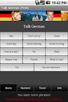 Screenshot of Talk German (Free)
